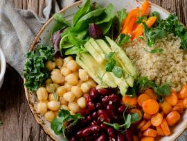 vegetarian bowl with beans