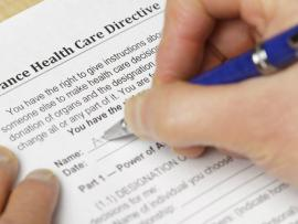 person filing out advance care directive