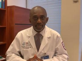 Dr. Anthony Baffoe-Bonnie, medical director of Infection Prevention and Control at Carilion Clinic