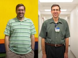 before and after pictures of Carilion Clinic dietitian weight loss