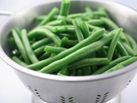 fresh steamed green beans