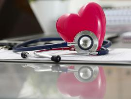 stethoscope with plastic heart