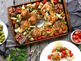 sheet pan mediterranean chicken