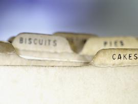 retro recipe divider cards for cakes cookies biscuits pies