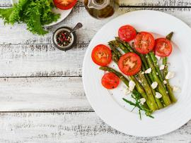cherry tomato and asparagus salad