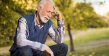 A man is depressed after a heart attack.
