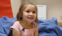pediatric patient smiling at interviewer