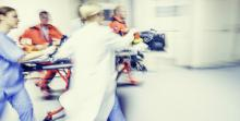 trauma team rushing patient to surgery